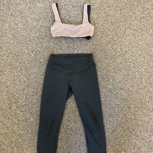Olympia Activewear Bra and Cropped Legging Set